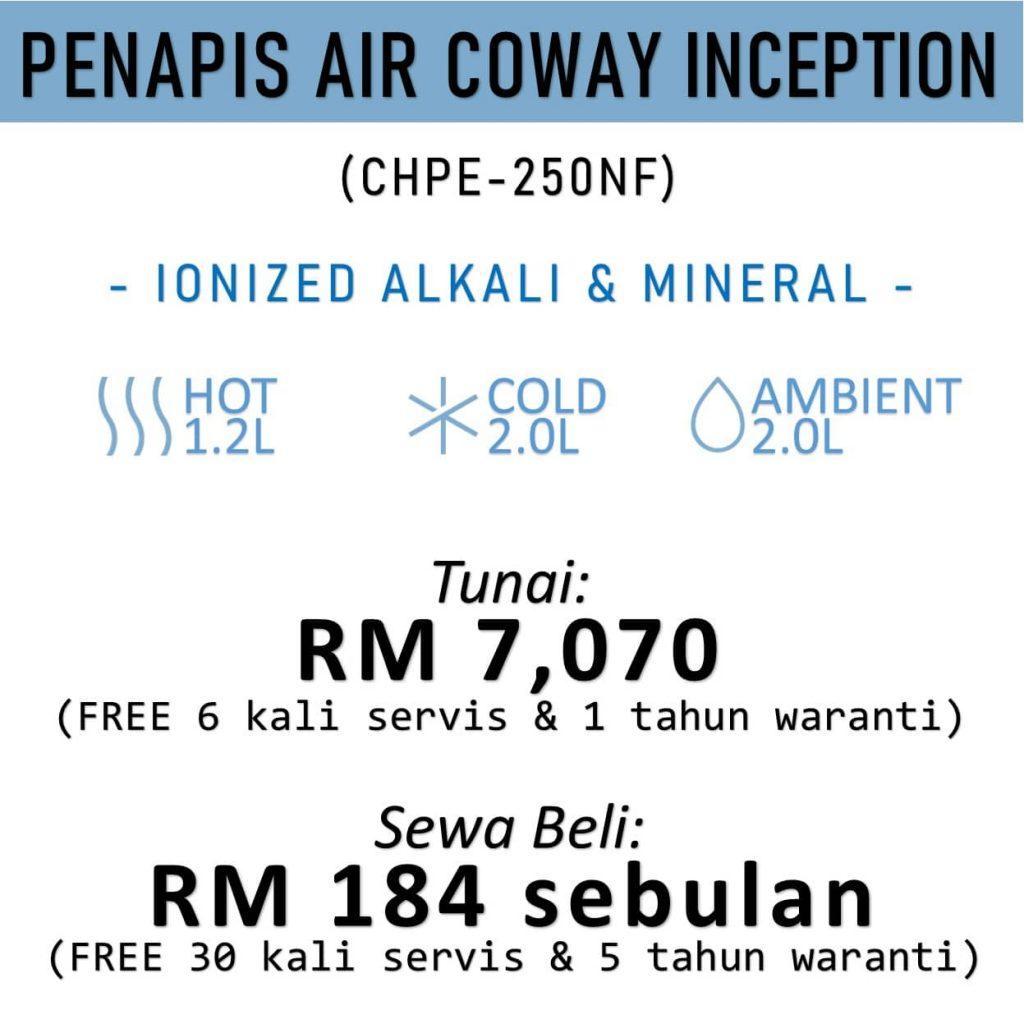 Harga Penapis Air Coway Terkini Model Inception-HarizCoway
