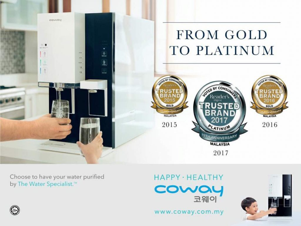 Coway No 1 Trusted Brand